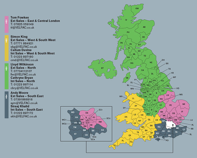 VELFAC Housebuilding map and contacts