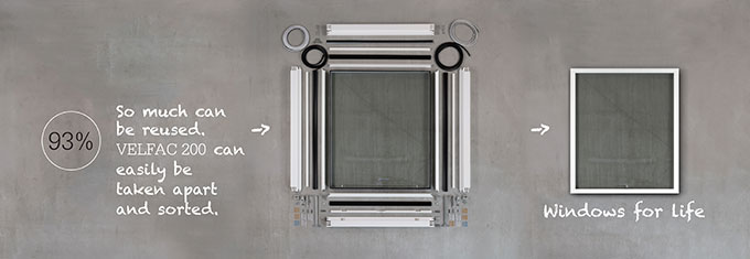 Separated VELFAC 200 ENERGY window