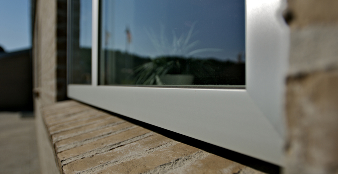 Modern V200 windows suitable for a brick house