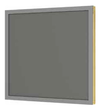 Ventilated panel in aluminium