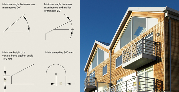 Various angles for the frames as well as a house with shaped windows