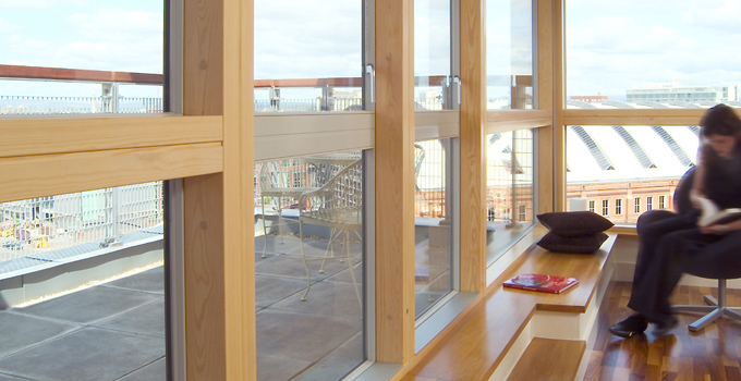 FSC Certified Wood creates a beautiful look to the window