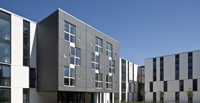 Aluminium timber windows completes a well designed and modern building
