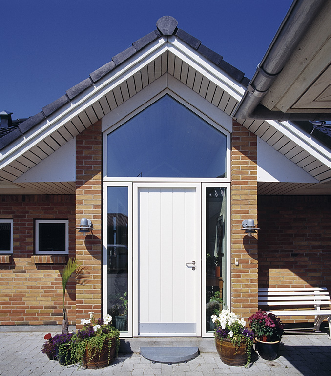 New modern front door offers the best of both worlds in white colour