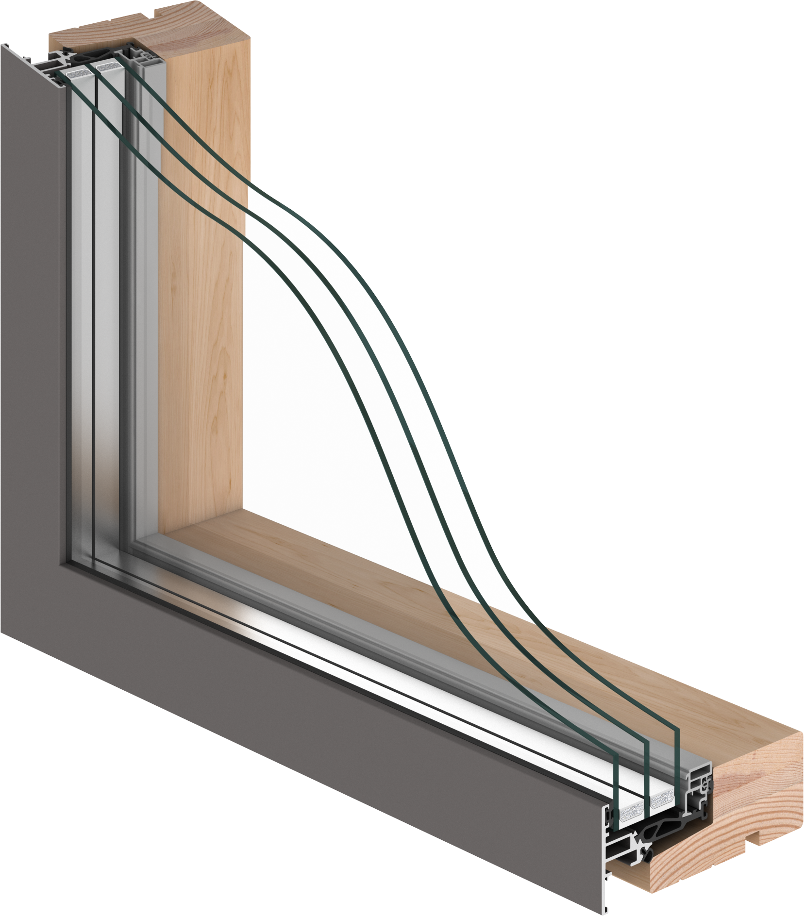 A stylished and sophisticated window with triple glazing